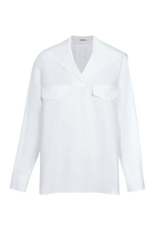 White shirt with a collar