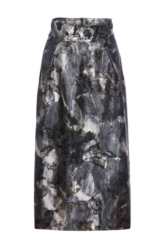 Brocade pencil-skirt