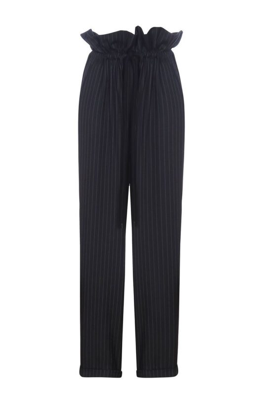 Striped pants with a drawstring waist
