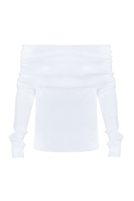 White gaufre jumper