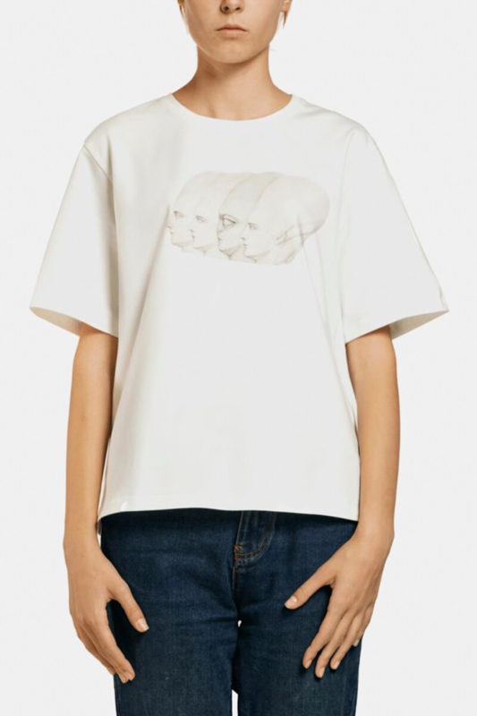 T-shirt with a print 4 HEADS <br>Bobkova x Tolmachev