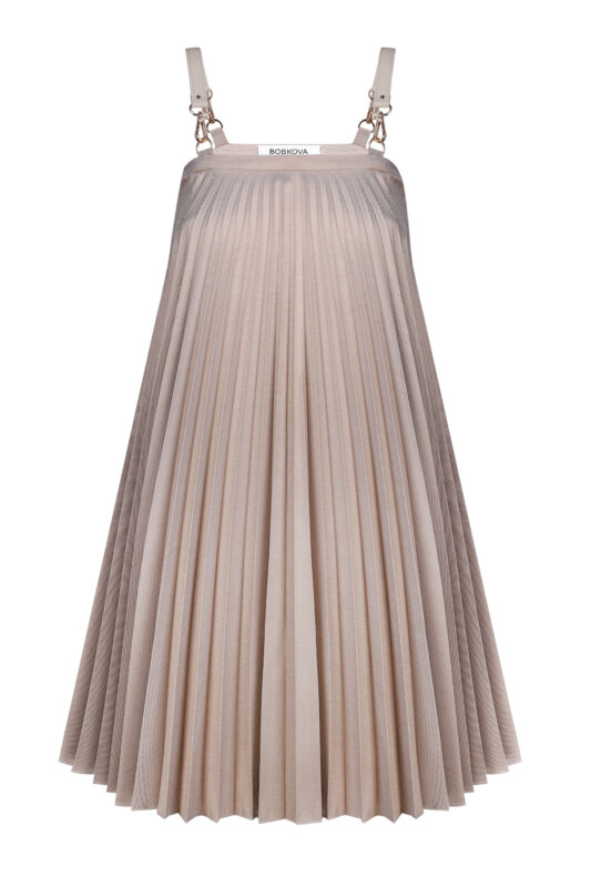 Pleated jumper-dress-skirt