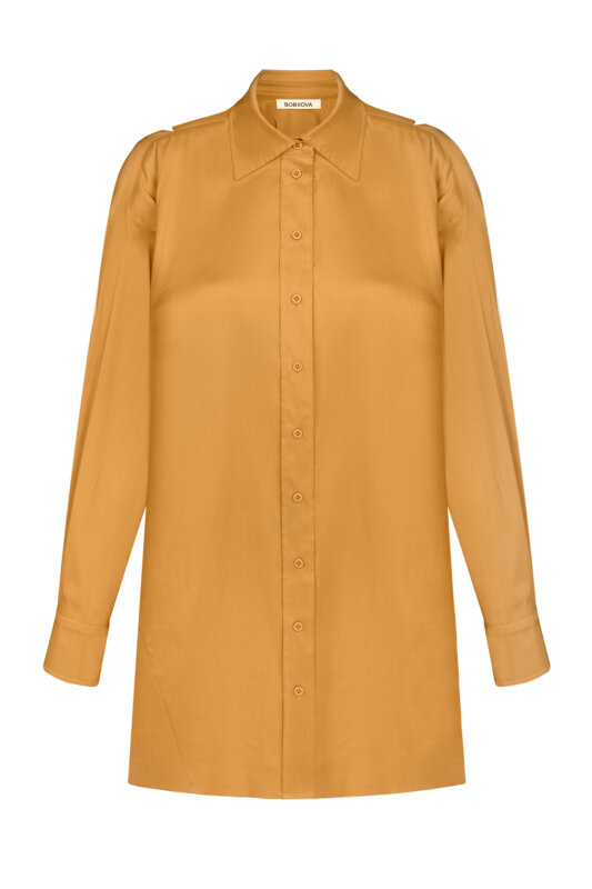 Yellow mini dress-shirt