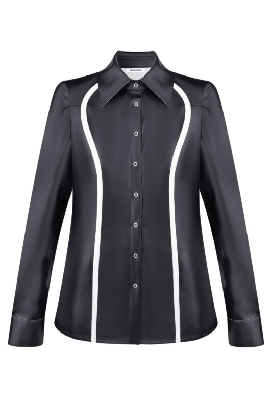 Eco-leather shirt