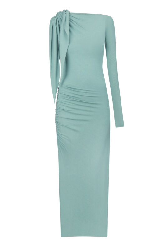 Mint one-shoulder dress