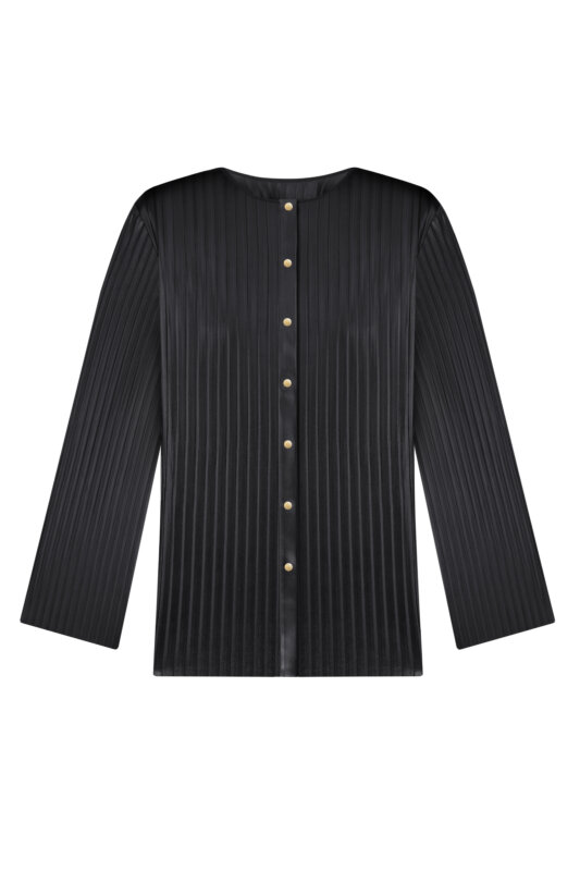 Pleated jumper with long sleeves