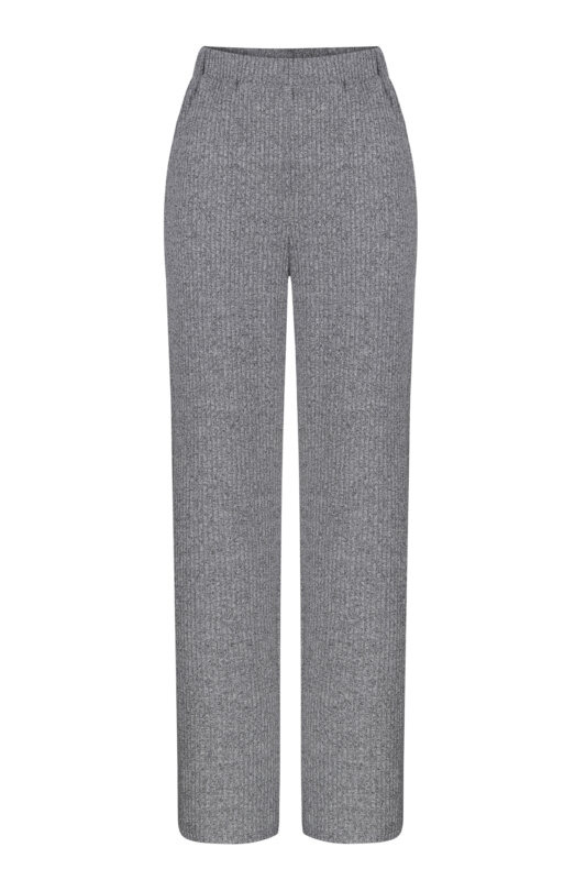 Grey knitted pants