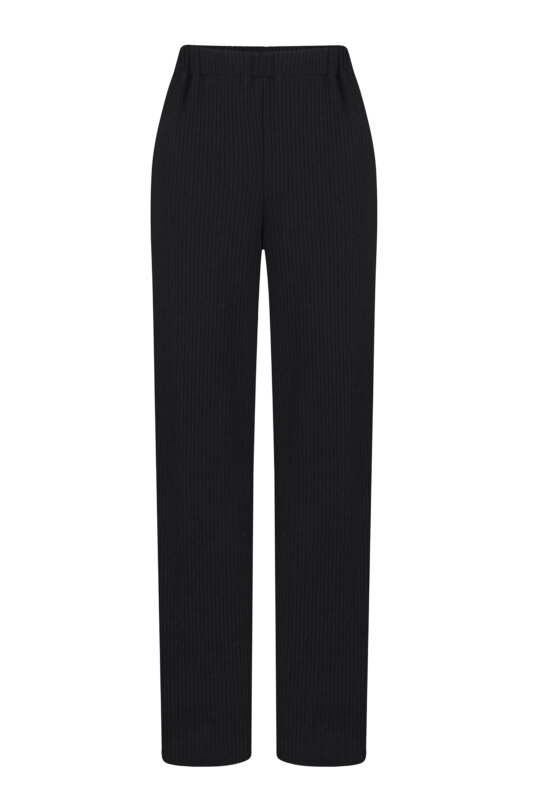 Black knitted pants