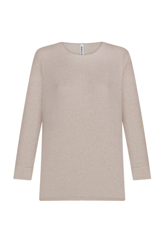 Beige knitted jumper